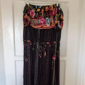 Strapless maxi dress 💗